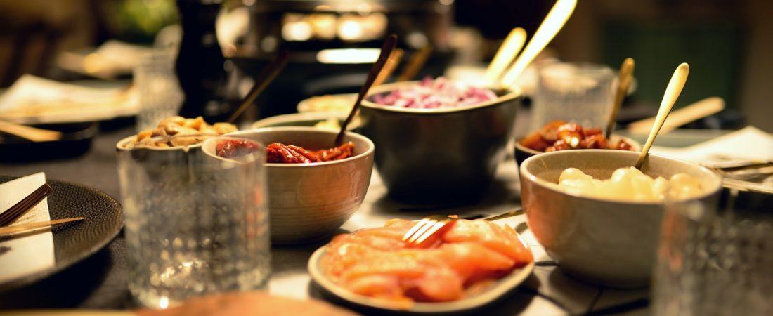 Raclette für 10 Personen Dinnerparty