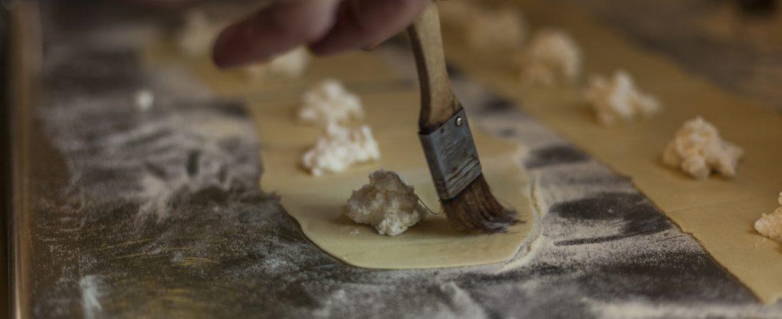 Ravioli mit Ricotta - Ricotta hausgemacht