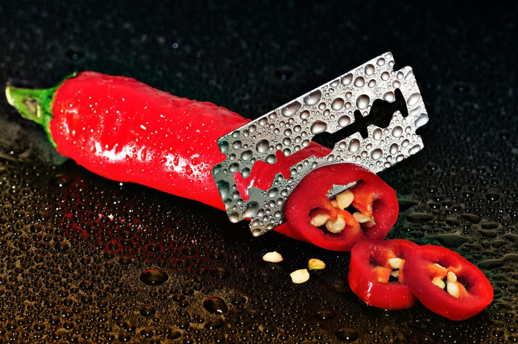 Messerschärfer mit Standbein