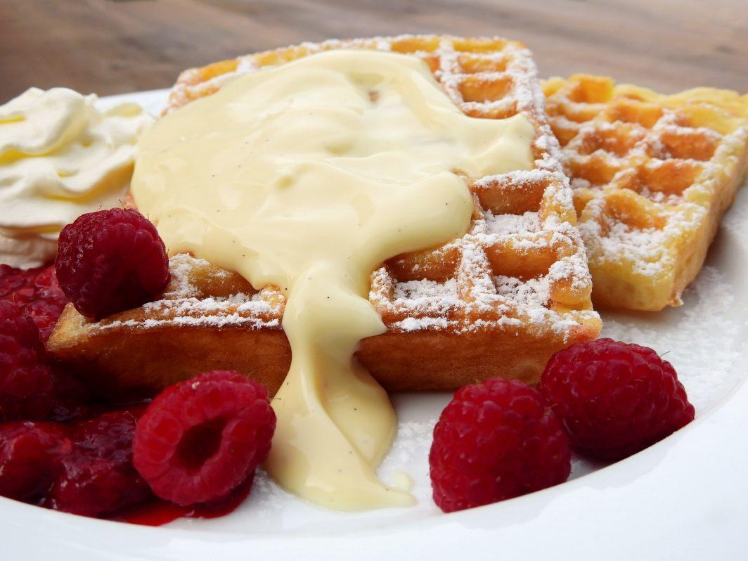 belgische waffel vanillesoße - waffel vanille