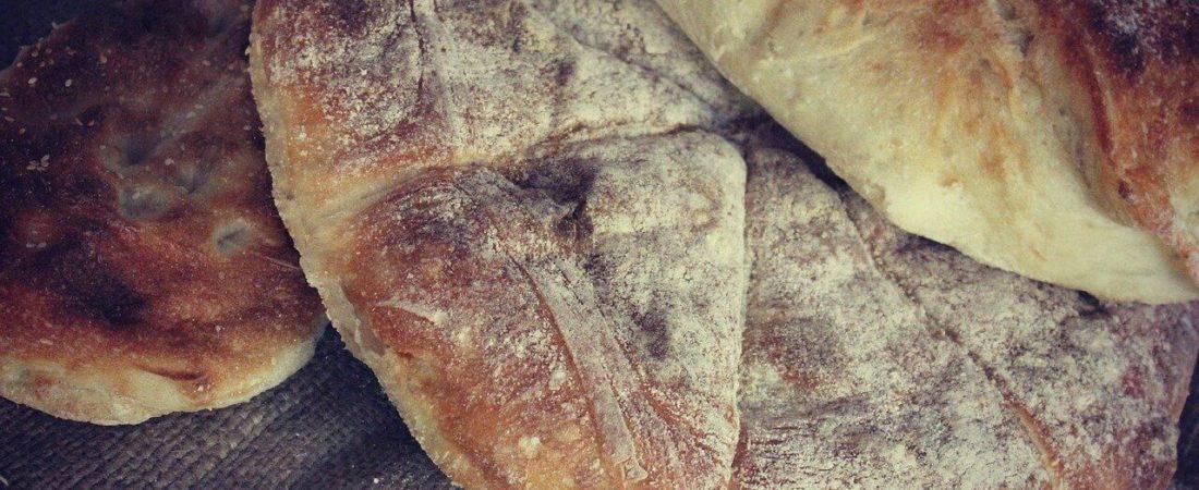 Panini Brot frisch gebacken