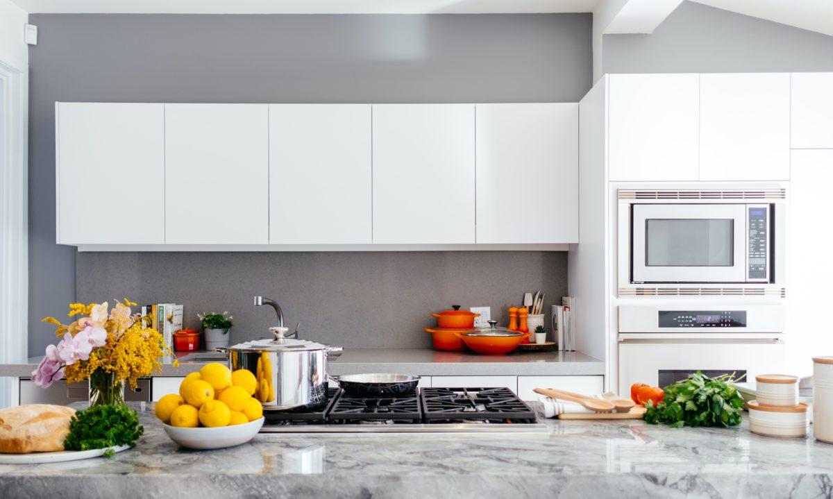 Dampfentsafter Küchenmaschine in einer Küche