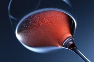 Weinglas mit weinsteinsäure